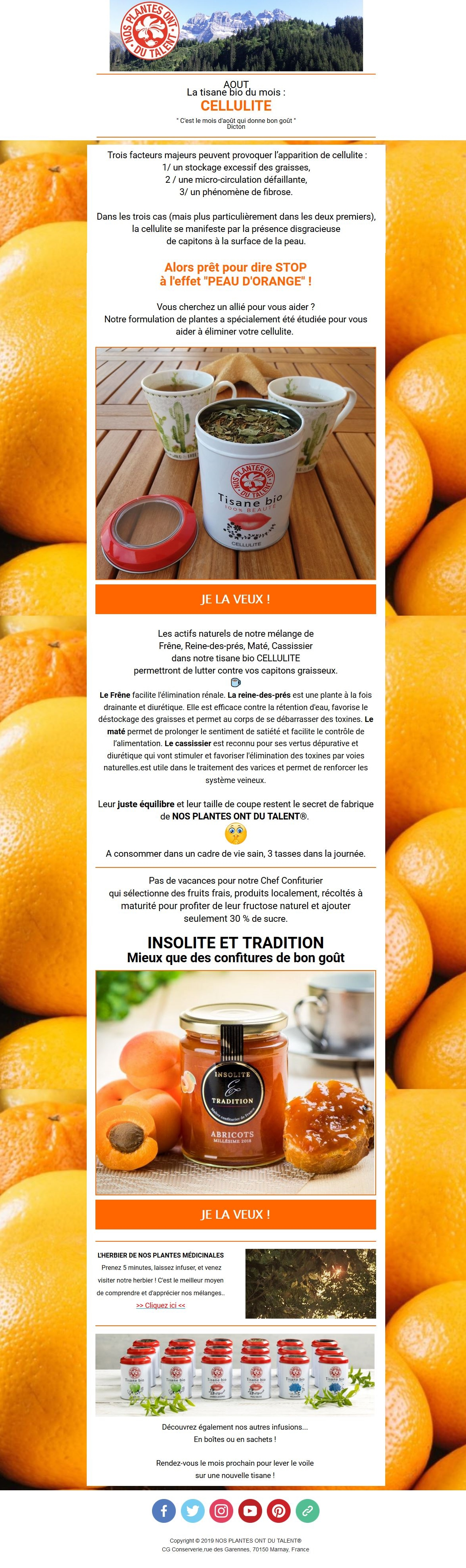 Tisane bio Cellulite contre la peau d'orange